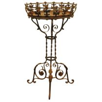 30 Photos Of The The Beautiful Wrought Iron Plant Stands Outdoor
