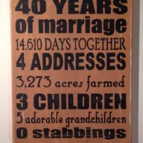 40th Wedding Anniversary Gift