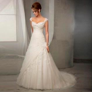 Aliexpress Com Buy Elegant Lace Wedding Dresses V Neck Vintage