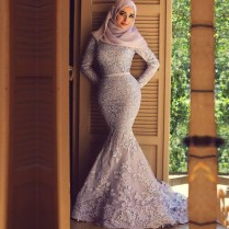 Aliexpress Com Buy Mzyw0203 Muslim Mermaid Long Sleeve Lace