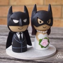 Batman Cake Topper Wedding Cute Batman And Catwoman Superhero