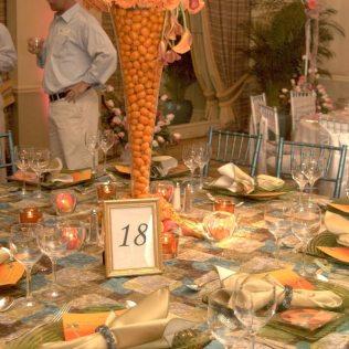 Beach Theme Wedding Table Centerpieces