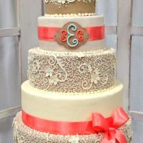 Burlap & Lace Cake Ideas And Inspirations