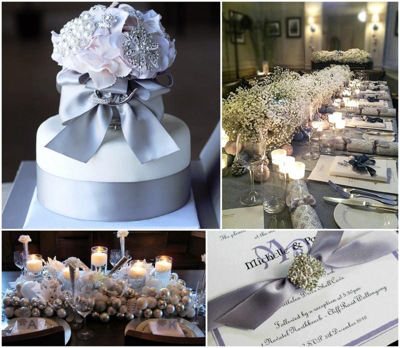 Silver Grey Wedding Theme