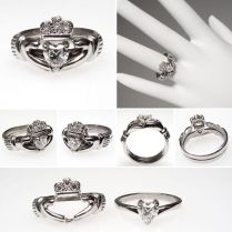 Collection Claddagh Engagement Ring Set Pictures