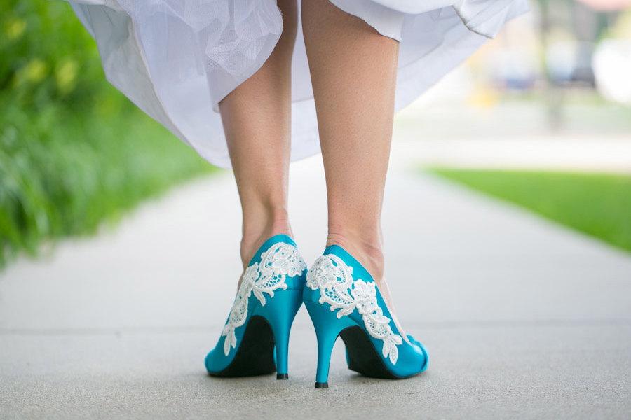 Comfortable Turquoise Wedding Shoes e573eb4fb