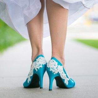 Comfortable Turquoise Wedding Shoes