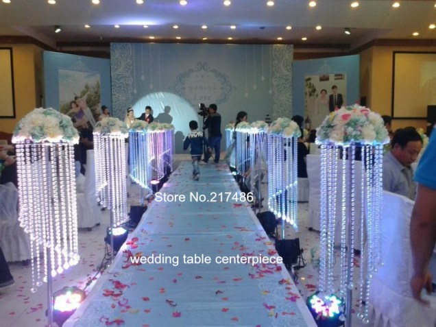 Compare Prices On Wedding Lighted Crystal Pillars