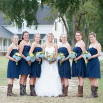 Country Style Wedding Dresses With Boots