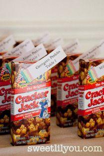 Cracker Jack Wedding Favors
