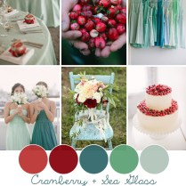 Cranberry Sea Glass Wedding Color Inspiration Bow Ties