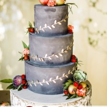 Cranberry And Gray Fall Wedding Cakes For October Wedding Colors