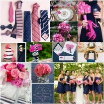 Dishie Rentals » Blog Archive » Pink And Navy Wedding Inspiration