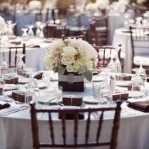 Elegant Seaside Inspired Wedding Reception Decor