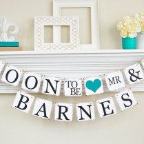 Engagement Party Decor Bridal Shower Soon To Be Banner By