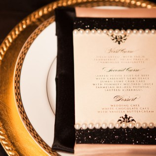 Glamorous Black, Gold, And Ivory Wedding Inspiration