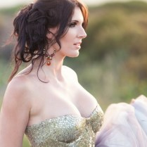 Gold Sequin And Tulle Wedding Dress {janita Toerien}