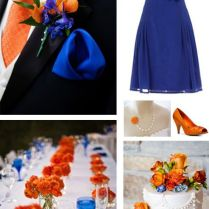 Great Collection For A Bright Orange And Cobalt Blue Wedding