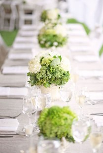 Green Table Decorations, Green And White Wedding Table Decorations