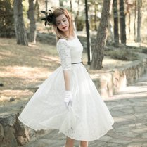 Handmade 50s Wedding Dress Lace Wedding Dress By Suzannamdesigns