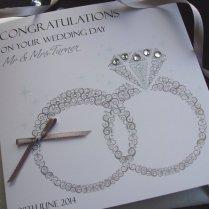 Handmade Wedding Card Wedding Rings Handmade Cards Pink & Posh