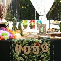 Hawaiian Luau Bridal Wedding Shower Vintage Luau Bridal Shower