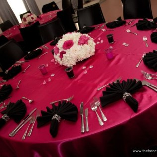 Hot Pink And Black Wedding Centerpieces Pink And Black Wedding