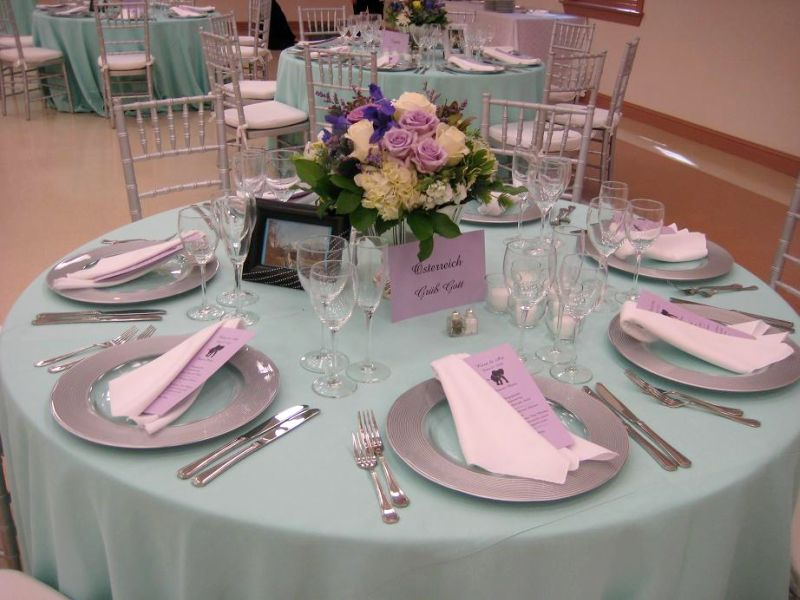 Lilac Table Decorations Wedding Tables