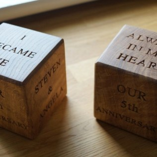 Ideas For 5th Wedding Anniversary Present 5 Year Wedding