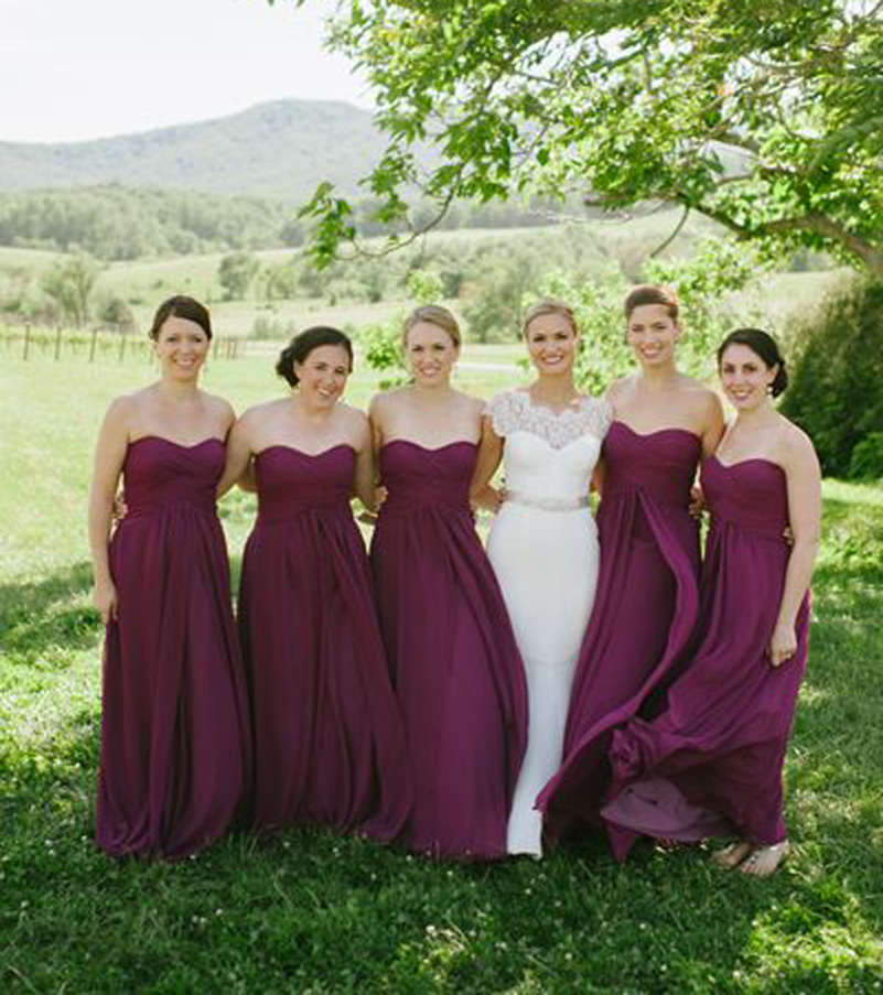 Fall Wedding Bridesmaid Dress
