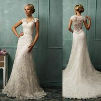 Impressive Ivory Lace Wedding Dress New Dresses