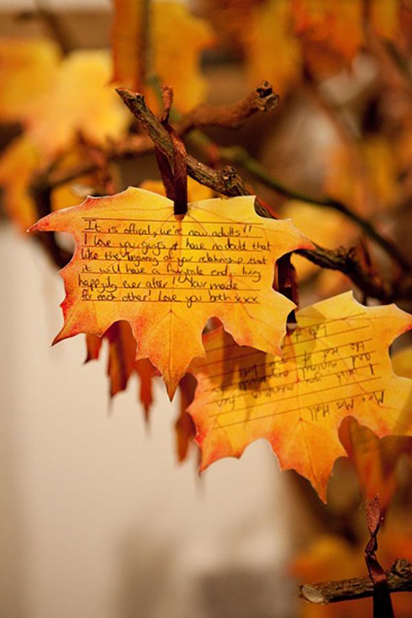 Incorporating Foliage Into Your Autumn Wedding