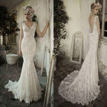 Lace Open Back Wedding Gown
