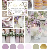 Lilac And Gold Wedding Theme Ideas For Any Season