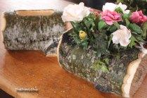 Log Flower Vase Rustic Wedding Table Centerpiece By Thatfamilyshop