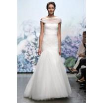 Mermaid Pleated Tulle Wedding Dress