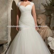 Mermaid Plus Size Wedding Dress, Mermaid Plus Size Wedding Dress