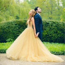Online Buy Wholesale Yellow Wedding Dress From China Yellow