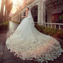 Online Get Cheap Petal Wedding Dress