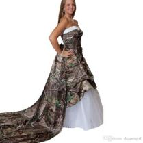 Online Get Cheap Plus Size Camo Wedding Dresses With Train