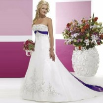 Online Get Cheap Purple White Wedding Dress