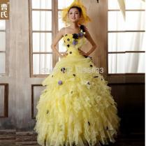 Online Get Cheap Yellow Wedding Gown