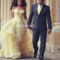 Online Get Cheap Yellow Wedding Gown