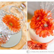 Orange Wedding Table Decorations