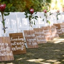 Outside Wedding Aisle Decor