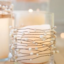Pearls On Wire Garland With Jute Twine For Rustic Wedding Or Beach