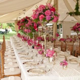 Pink Flower Arrangements For Weddings