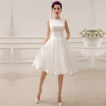 Popular Simple Short Wedding Dress
