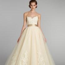 Popular Wedding Dress With Yellow Sash