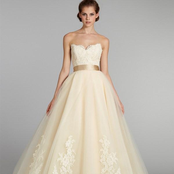 Pale Yellow Wedding Dress